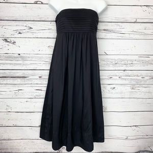 BANANA REPUBLIC black strapless silk dress